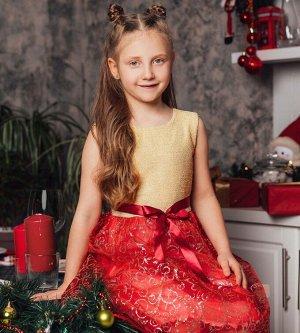 Платье для девочки, люрекс+фатин+кулирка