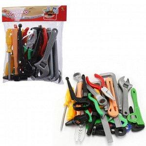 Игровой набор ABtoys Помогаю Папе Инструменты в пакете с хедером, 28 предметов7613