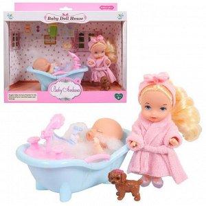 Игровой набор Baby Ardana Дома у сестрёнок (в ванной комнате)82