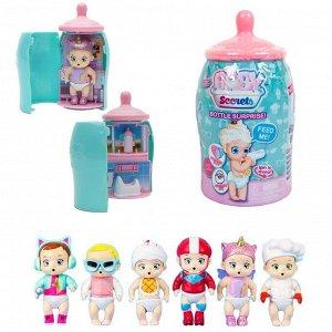 Baby Secrets Bottle Surprise, коллекционная куколка в бутылочке, 6 шт. в ассортименте, 6 шт в дисплее4734