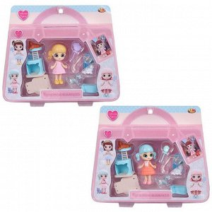 Кукла-мини ABtoys Любимая кукла с 3 питомцами и домиком для кошки1745