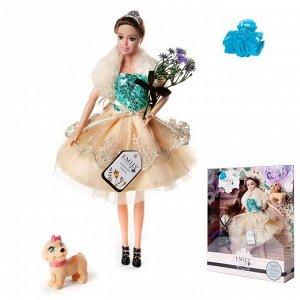 Кукла ABtoys Emily Цветочная серия с собачкой и аксессуарами, 30см156
