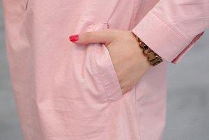 Рубашка,розовый