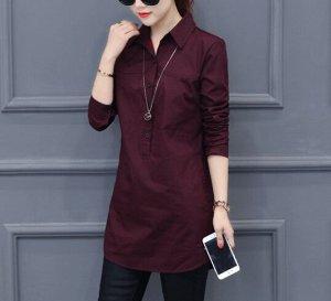 Рубашка,бордо