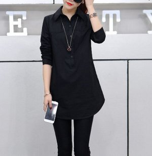 Рубашка,черный