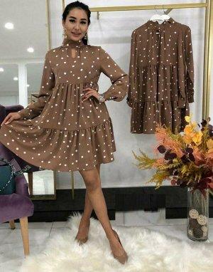 Платье Ткань барби  Длина платья 90см