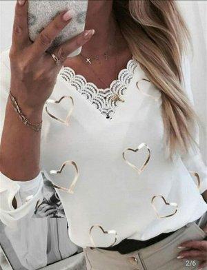 Блузка Ткань крепун+французский гипюр