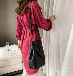 Рубашка-туника,красный