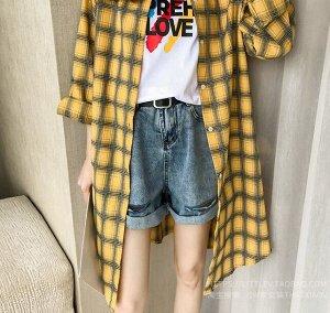 Рубашка-туника,желтый