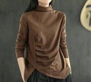 Лонгслив , коричневый