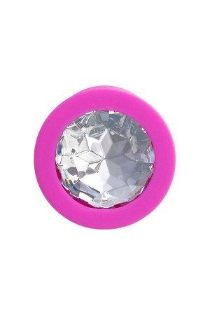 Малая силиконовая втулка с прозрачным кристаллом ToDo by Toyfa Brilliant