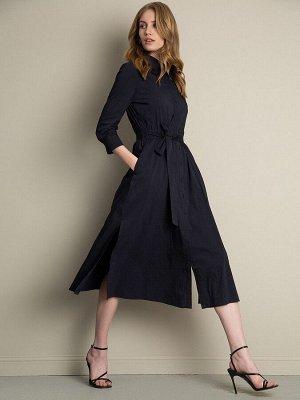 Платье А-силуэта рубашечного кроя PL864/selfish