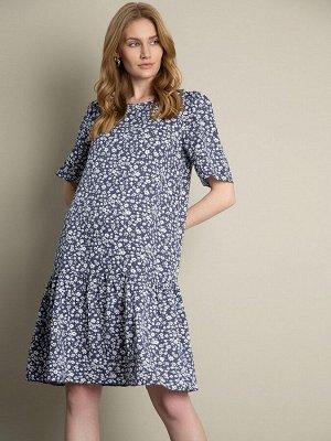 Платье А-силуэта с принтом PL1137/emedge