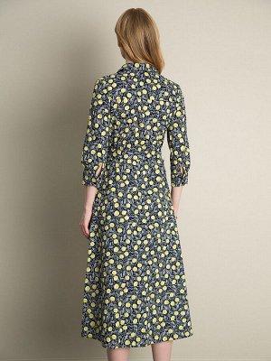 Платье с принтом PL864/hotel