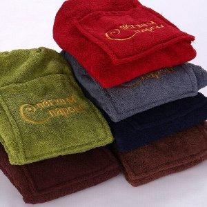 Набор сауна махра мужской Килт+полотенце С Легким паром-5