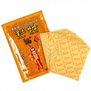 Пластырь для суставов Противовоспалительный Золотой с женьшенем  (Корея)