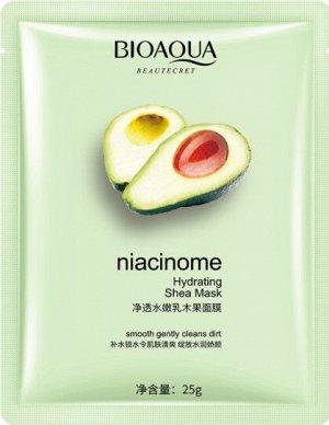 Увлажняющая тканевая маска с маслом ши и авокадо