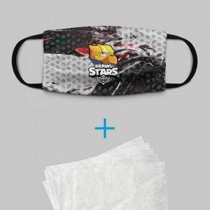 Детская маска (+5 фильтров) «BRAWL STARS:CROW»