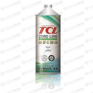 Масло моторное TCL Zero Line 5w20 синтетическое, SN/GF-5, для бензинового двигателя, 1л, арт. Z0010520