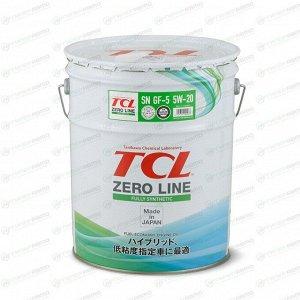 Масло моторное TCL Zero Line 5w20 синтетическое, SN/GF-5, для бензинового двигателя, 20л, арт. Z0200520