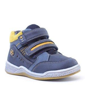 Ботинки Состав: 80% полиуретан, 20% полиэстер Цвет: синий, жёлтый, голубой Год: 2020 Комфортные ботинки отлично подойдут для прогулок в холодную погоду. Удачный вариант комбинации искусственной кожи и