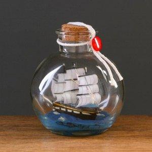 Корабль сувенирный, в бутылке, вертикальн. 10*12см
