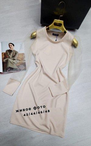 Платье Ткань:Трикотаж лапша Длина 90 см