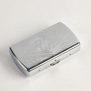 Портсигар с узором на 12 сигарет, 5.3х9х1.6 см