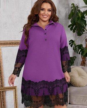 Платье Ткань Барби и гипюр Пояс в комплекте Без выбора