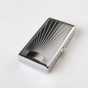Портсигар с узором на 12 сигарет, 5.5х10х1.5 см