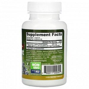 Jarrow Formulas, черная смородина, 200 мг, 60 вегетарианских капсул
