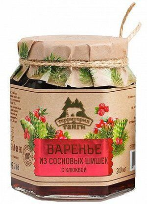 Варенье из сосновых шишек с клюквой 200мл