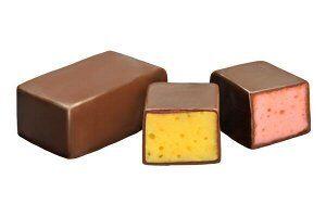 Сбивные конфеты в темном шоколаде «Птичка Томичка» ассорти (ваниль/шоколад/лимон/земляника) 250г НОВИНКА!!!