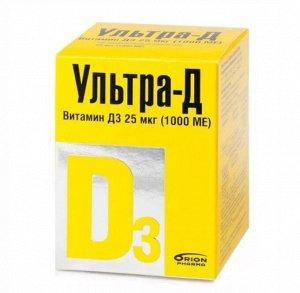 Ультра-Д Витамин Д3 25Мкг (1000 Ме) Таб. Жев. 425Мг №720 (Бад)