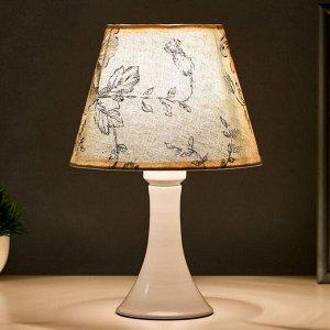 Лампа настольная 16152/1  E27 40Вт белый 19х19х29.5 см