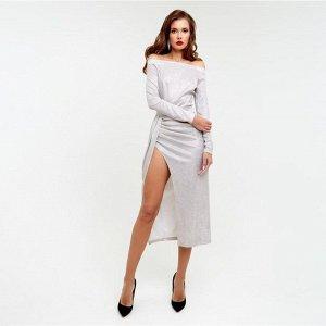Платье с драпировкой MIST, бежевый, 42