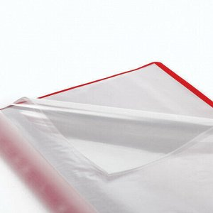 """Папка 10 вкладышей STAFF """"EVERYDAY"""" с перфорацией, мягкая, красная, 0,16 мм, 224976"""