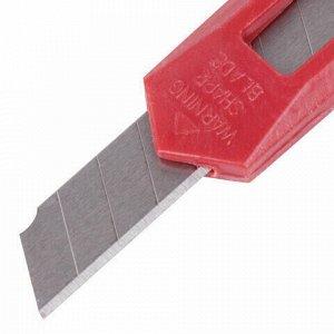 "Нож канцелярский 9 мм STAFF ""Basic Economy"", фиксатор, клип, корпус ассорти, 237080"