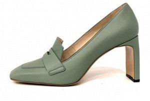 Туфли Кожа оливкового цвета Высота каблука 8см