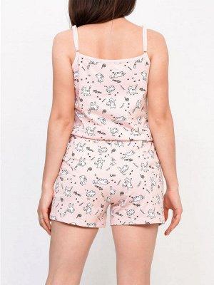 Пижама Цвет: Пудра Ткань: Кулирка Состав: 100% хлопок