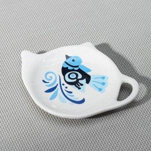 Подставка под чайный пакетик Доляна «Свиристель», 12Х8,4 см
