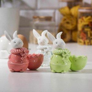 Подставка для яйца «Зайчонок», 8?4?8,5 см, цвет МИКС
