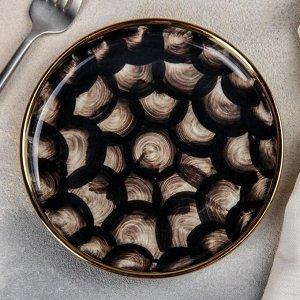 Тарелка пирожковая Black style, 15?2 см