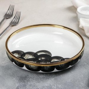 Тарелка обеденная Black style, 20,5?4 см