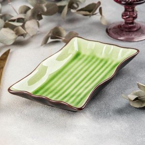 Блюдо сервировочное «Таллула», 19?11?3 см, цвет зелёный