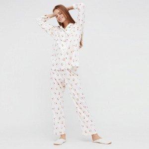 Мягкая пижама  стрейч Joy of Print,белый