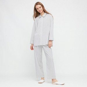 Женская пижама в полоску, белый