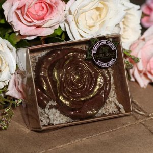 Шоколадная фигурка, Роза, 80 г