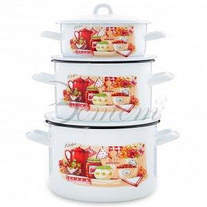 "Набор посуды ""Кухня"" цилиндрический 1,45 л 2,9 л 4,3 л 6 пр"