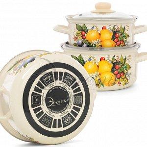 """Набор посуды """"Изобилие""""  цилиндрический 2,0 л  3,0 л 4 пр"""